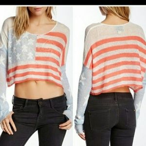 WILDFOX BORN ON 4th DROPPED BILLY SWEATER🇺🇸sz.M❤